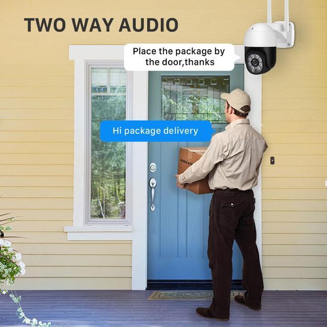 5MP HD PTZ Wifi Camera IP Outdoor Ai Human Detect Audio 1080P FHD IP Camera Color Night Vision 3MP Wifi Security CCTV IP Camera 6