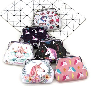Cartoon Unicorn kids coin purses cute women mini wallets ladies hasp money bags for girls change purse Female children pouch