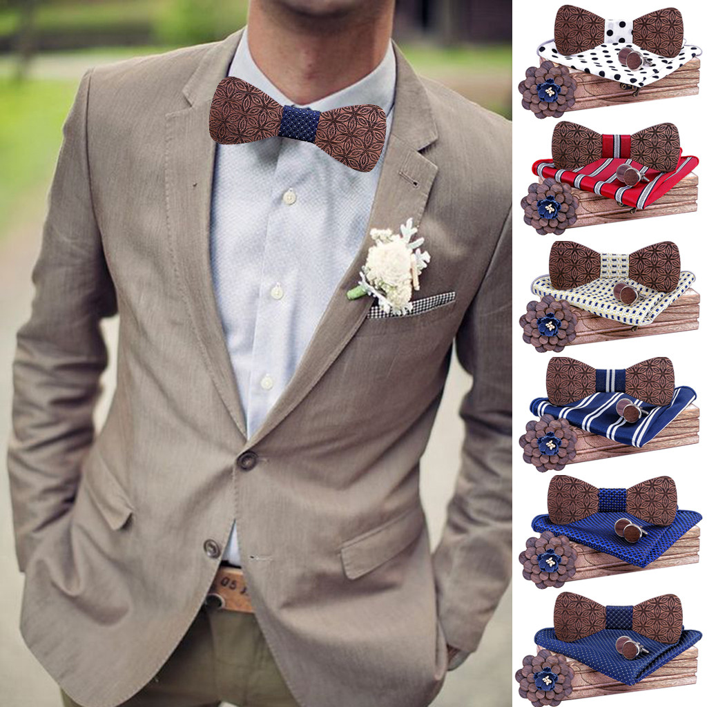 Bow Tie Men's Fashion Engraved Tie