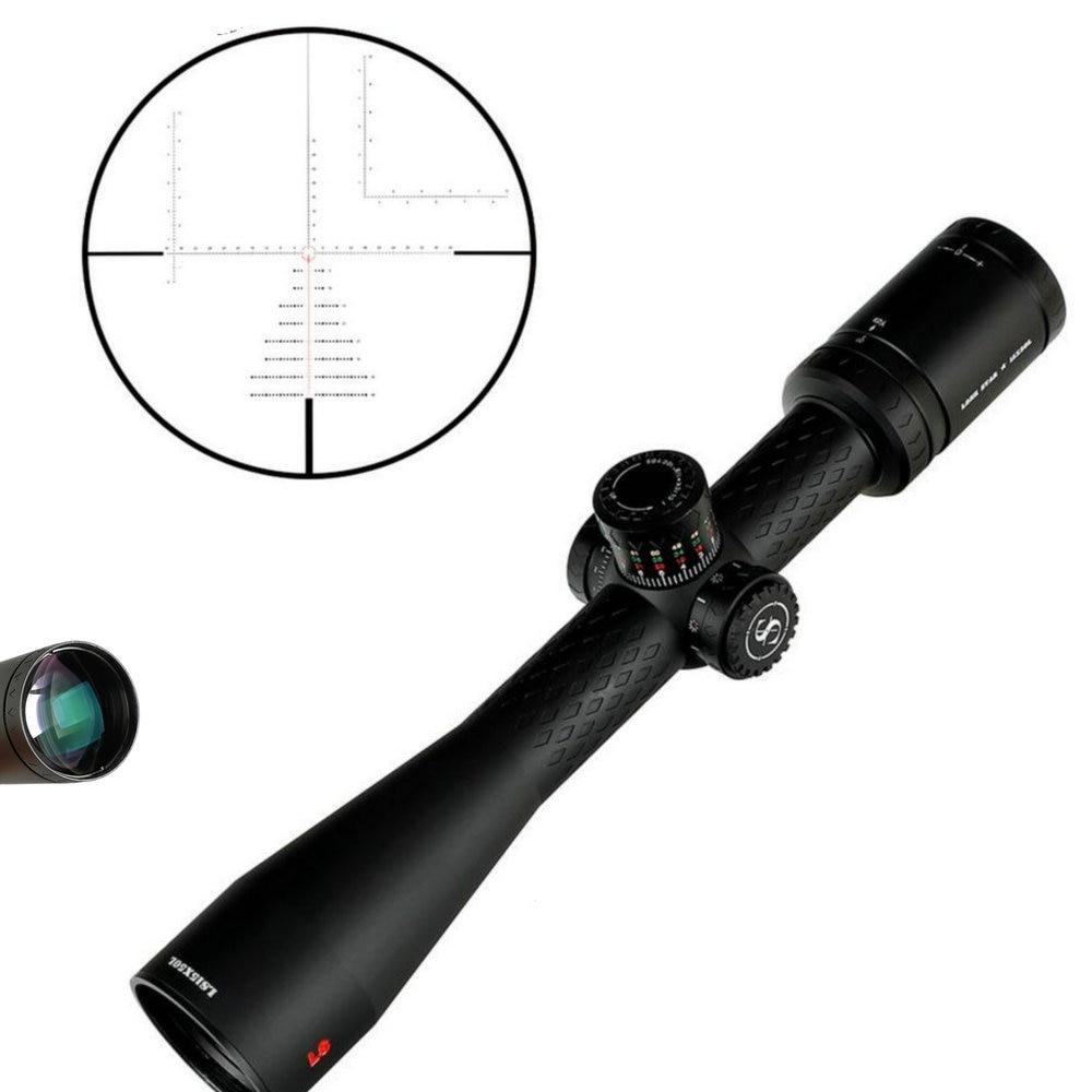SNIPER LS 15X50 WAL Hunting Riflescopes 35mm Tube Eyepiece Adjustment Parallax Tactical Reticle Turrets Lock Reset