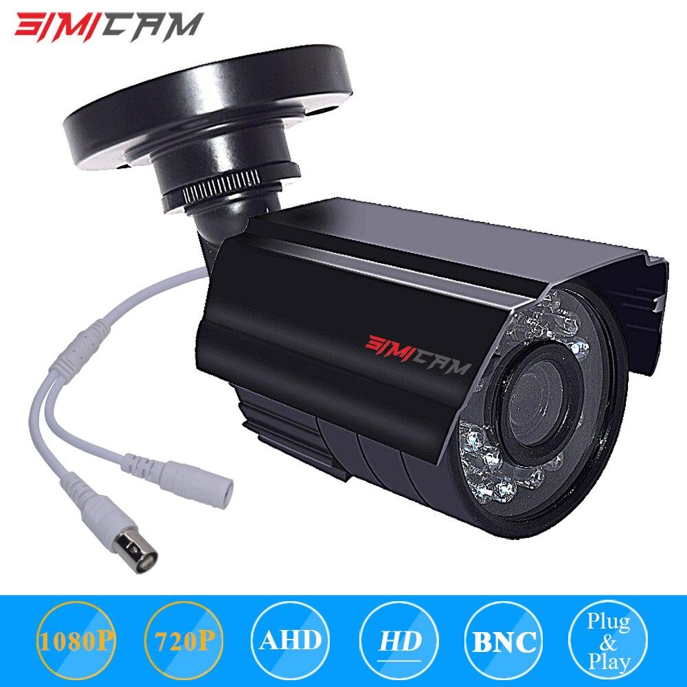 SIMICAM AHD Analog High Definition Security Camera Outdoor Waterproof Bullet Camera1080P AHD / TVI / CVI/CVBS Surveillance Night