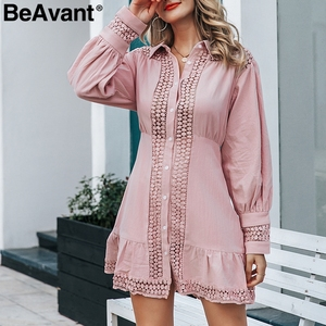 Image 5 - BeAvant 화이트 코튼 드레스 여성 우아한 랜턴 슬리브 겨울 드레스 인어 라인 여성 가을 드레스 vestidos