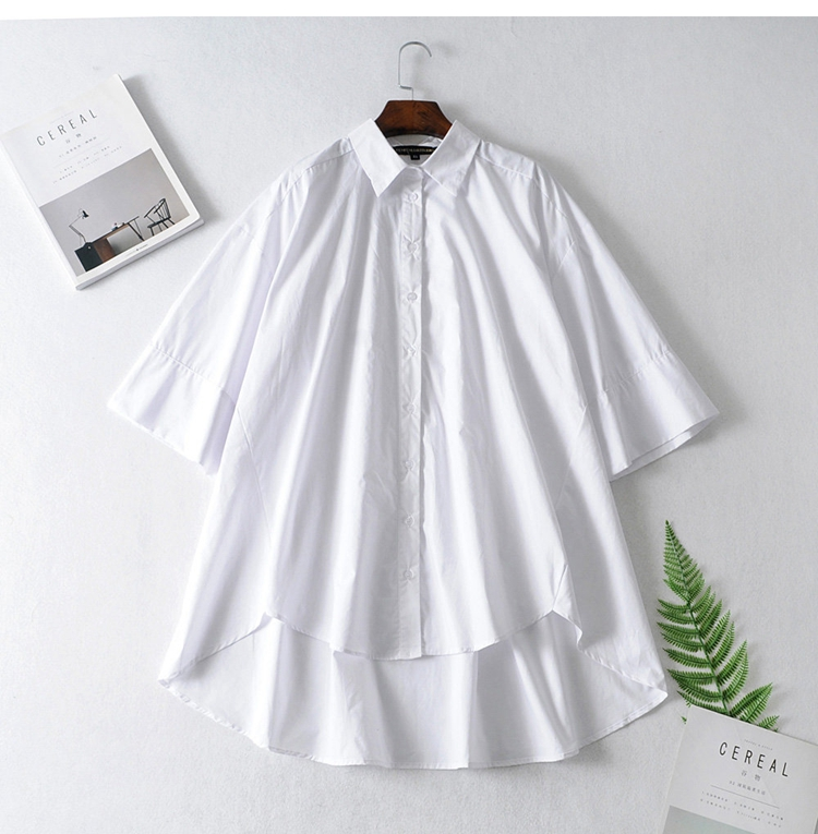 2020 Women's Cropped Sleeves Loose Boyfriend Wind   Shirt Modis Vadiming Sheiner Zaraing Women Blouse Kimono
