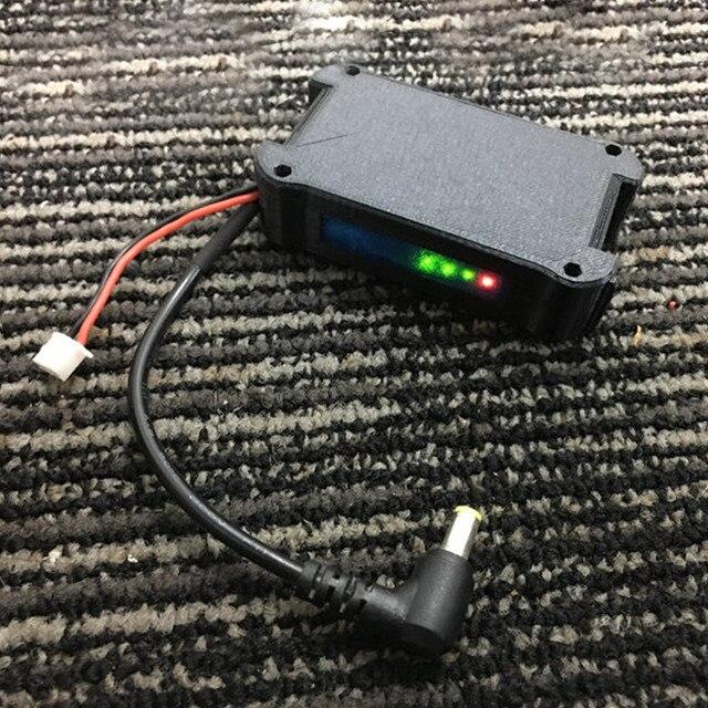 Boîtier de batterie 7.4V 18650 Li ion, boîtier DC5.5 x 2.5 pour lunettes FATSHARK FPV, vidéo, casque sans batterie Drone RC
