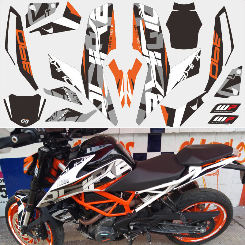 FASP Orange motorcycle car <font><b>sticker</b></font> 3M thick street car modified decal For KTM <font><b>DUKE</b></font> 390 2017-2018 year image