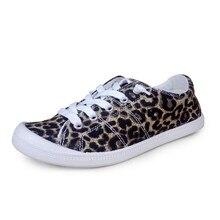 Summer Leopard Sneakers Canvas Shoes Flat Women Casual Fashi
