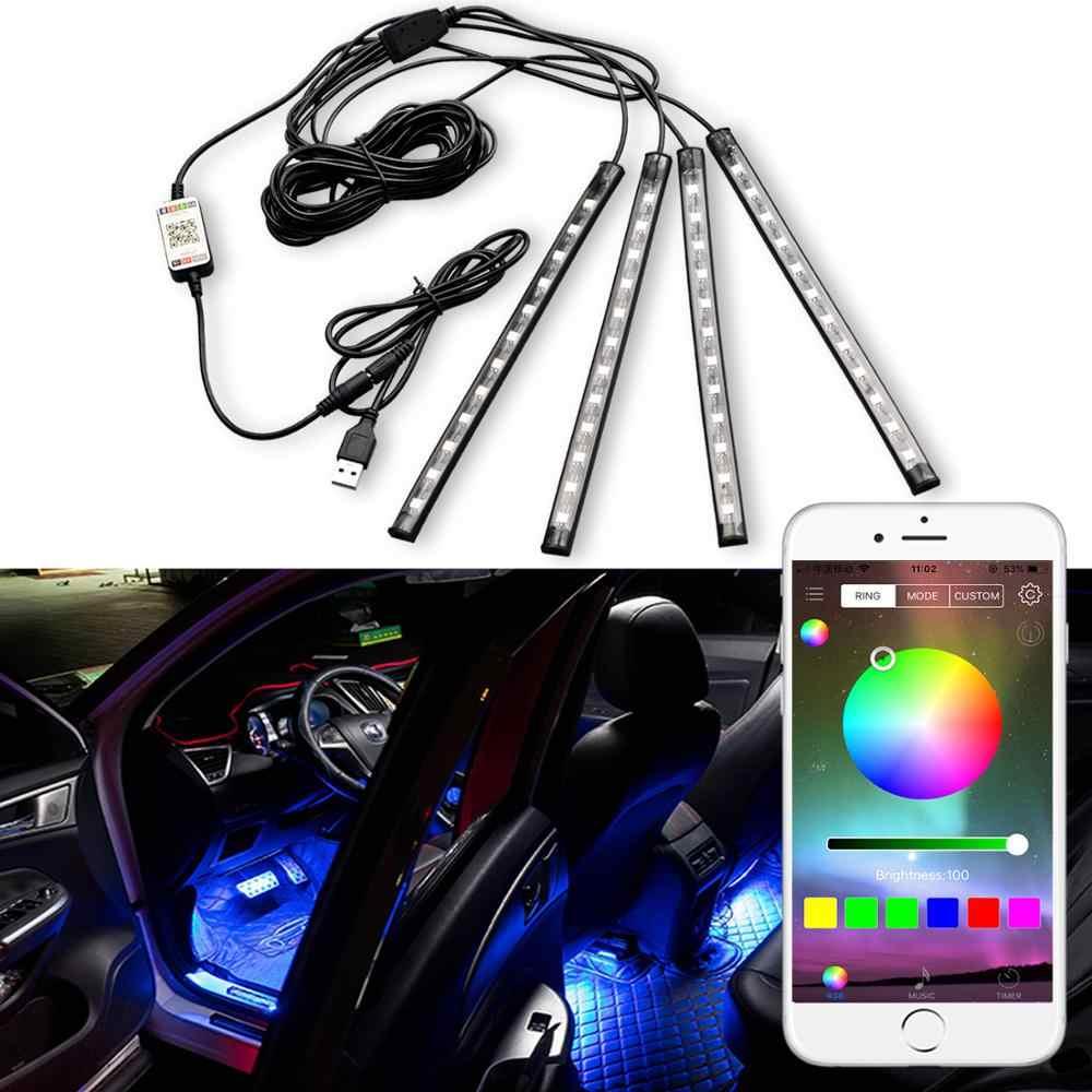 Fade//Flash Model Car LED Interior Lighting Kit KFZMAN DC5V Car USB LED Atmosphere Light with Remote Control RGB USB Ambient Light Interior for Tesla Model 3//X//S Brightness Adjustable Pack of 2