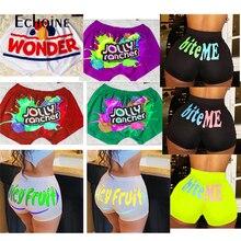 Echoine New Women Sexy Club Party Candy Mini Shorts Sports Fitness Push Up Multicolor Cute Shorts Summer Harajuku Short Feminino