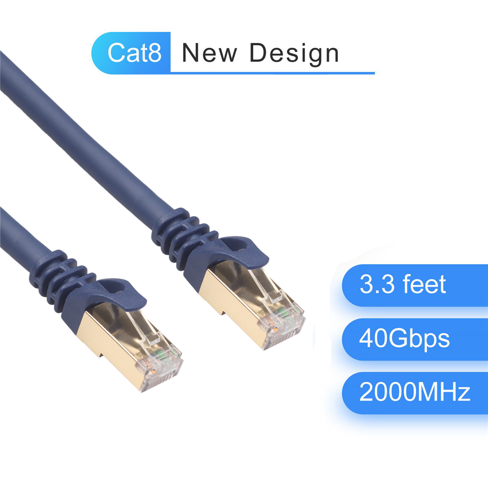 RJ 45 Network Cable Cat8 Ethernet Cable FTP Lan Cable RJ45 Patch Cord 1.5m/3m/5m/10m For Router Laptop Cable Ethernet