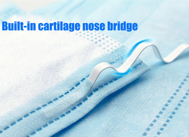 50PCS Face Mouth Masks Respirator 3-layer Antiviral Protection Flu Facial Mask Influenza Earloop Non Woven Mouth Dust Mask 5