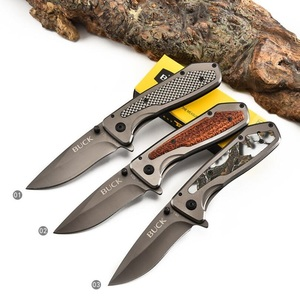USA Buck Pocket Folding Knife 440 Steel Army Tactical Outdoor Hiking Camping Rescue Survival Fishing Hunting Utility Knives(China)