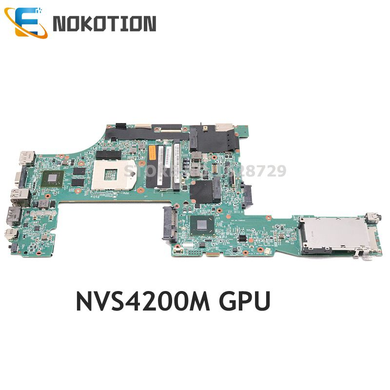 NOKOTION For Lenovo Thinkpad T520 T520i Laptop Motherboard 04W3254 04W2021 QM67 DDR3 W/ NVS 4200M Graphics