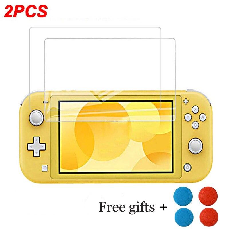 Закаленное стекло для Nintendo Switch Lite NS, Ультрапрозрачная Защитная пленка для экрана Full HD, защита поверхности, кожа