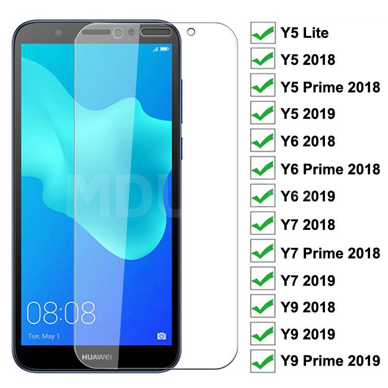 Закаленное стекло 9H для Huawei Y5 Lite Y5 Y6 Y7 Prime 2018 2019 Защитная пленка для экрана Huawei Y9 2018 Prime 2019