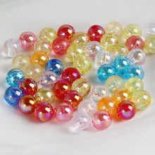NEW Cheap 50/100pcs/lot 6/8/10mm Candy AB Color Round Acrylic Bead Loose Spacer Beads For Jewelry Making DIY Bracelet Earring(China)