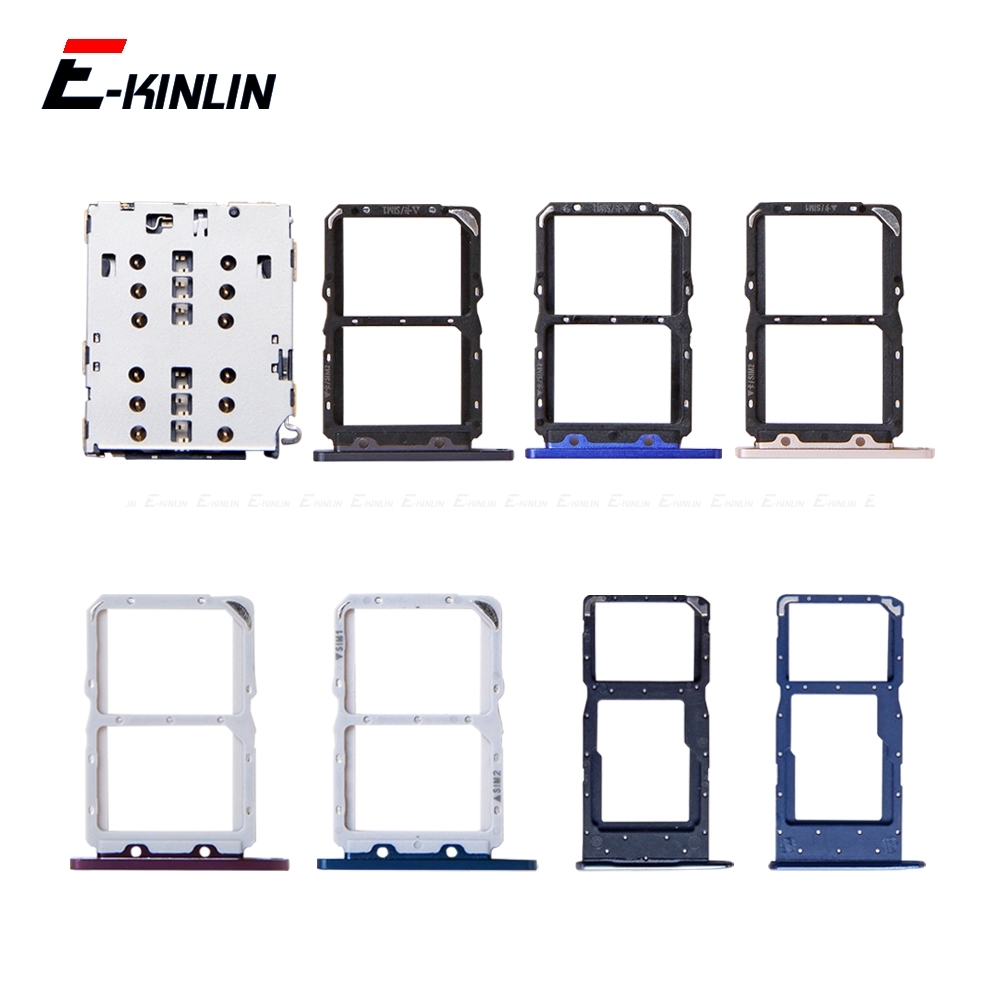 Sim Micro SD Card Socket Holder Slot Tray Reader For HuaWei Honor View 20 Pro Lite 20i Adapter Container Connector