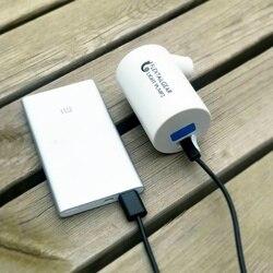 Praktyczna mini pompa powietrzna wydajna moc USB przenośna pompa światła Qualitied kółka do pływania nadmuchiwany przyrząd do leczenia w Zewnętrzne narzędzia od Sport i rozrywka na