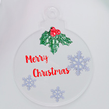 Acrylic-Board-Ornaments Cake-Topper Christmas-Ball-Tags Blank Rose 10cm Clear Mirror