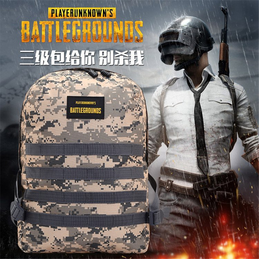 Hot 2 Colors Game PUBG Backpack Cosplay Game Playerunknown's Battlegrounds Level 3 Instructor Outdoor Large Capacity Backpack