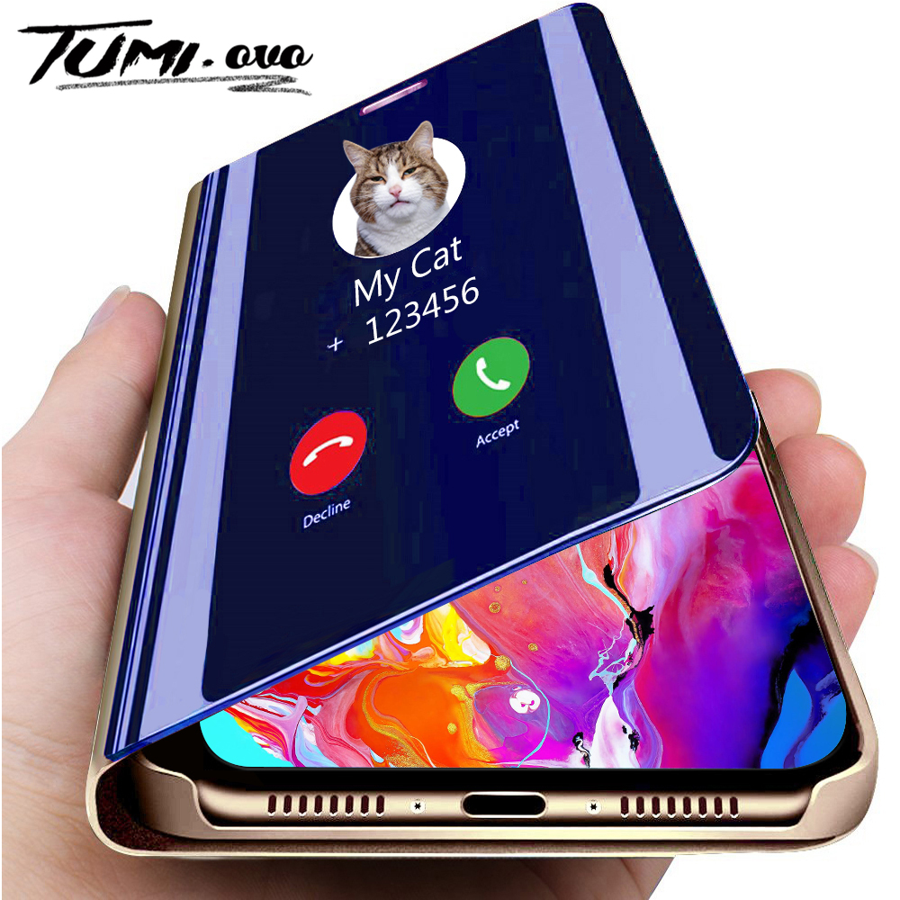 Luxury Smart Mirror Flip Phone Case For <font><b>iPhone</b></font> 11 Pro XR XS Max X <font><b>Cover</b></font> <font><b>Leather</b></font> Holder Standing for <font><b>iPhone</b></font> <font><b>6</b></font> 6S 7 8 Plus Cases image