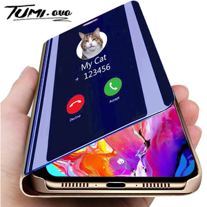 Luxury Smart Mirror Flip Phone Case For iPhone 11 Pro XR XS Max X Cover Leather Holder Standing for iPhone 6 6S 7 8 Plus Cases(China)
