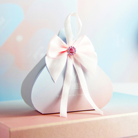 50pcs/lot Chinese style Multiple colors candy box Small gift bag with bow tie Wedding Favors box Birthday Party Supplies