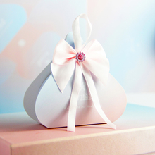 50pcs/lot Chinese style Multiple colors candy box Small gift bag with bow tie Wedding Favors  Birthday Party Supplies