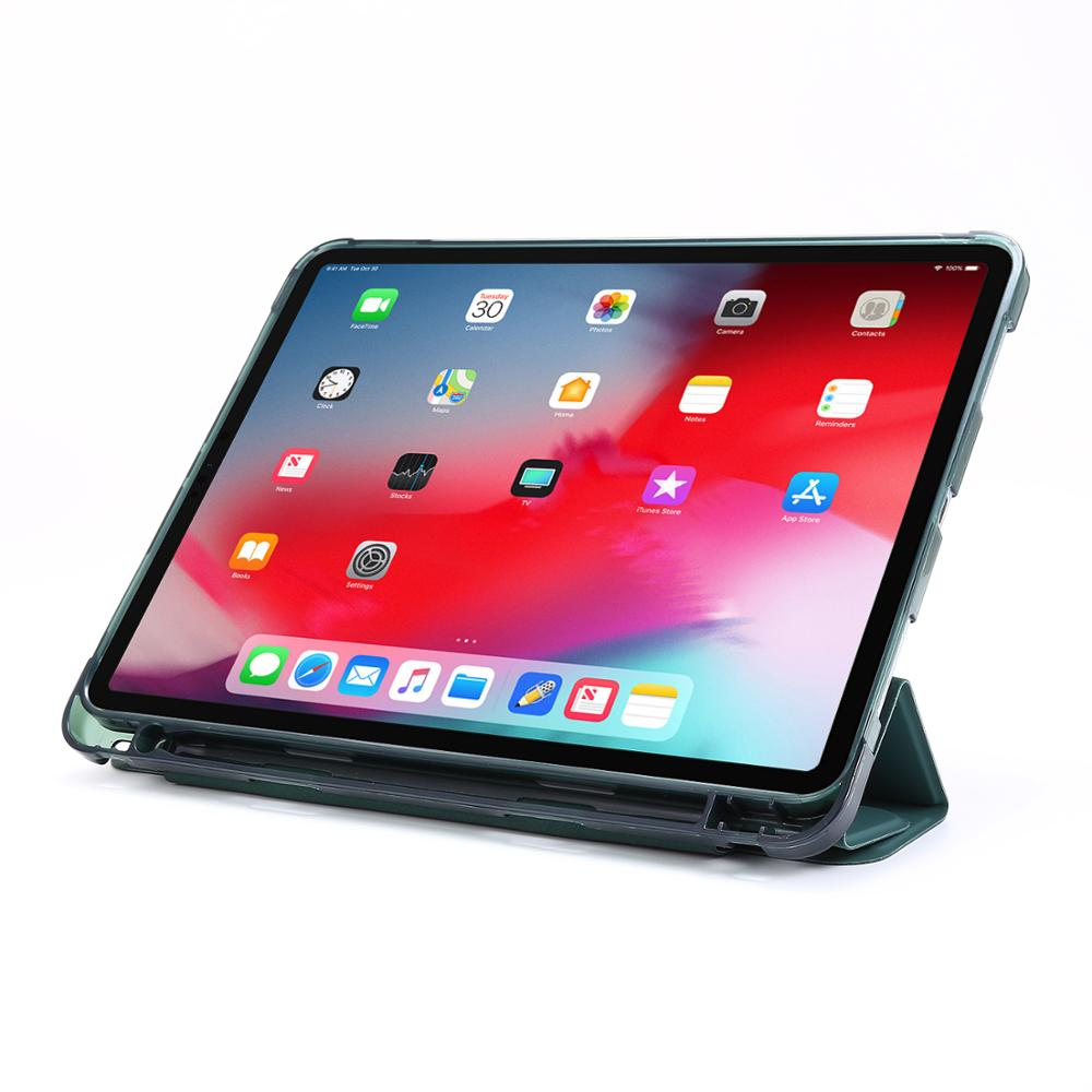For iPad Pro 12 9 Case 2020 2018 Folding PU Leather Protective Tablet Cover Case Funda