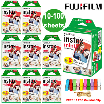 Fuji Fujifilm Instax Mini 9 Film biała krawędź papier fotograficzny filmy do LiPlay Link Polaroid Instant Mini 8 7s 25 50s 9 90 kamera tanie i dobre opinie Natychmiastowa Film Instant Film Instax Mini White Film 10 20 40 60 80 100 Sheet (Optional) 10 pcs colorful clip Daylight type (5500K)