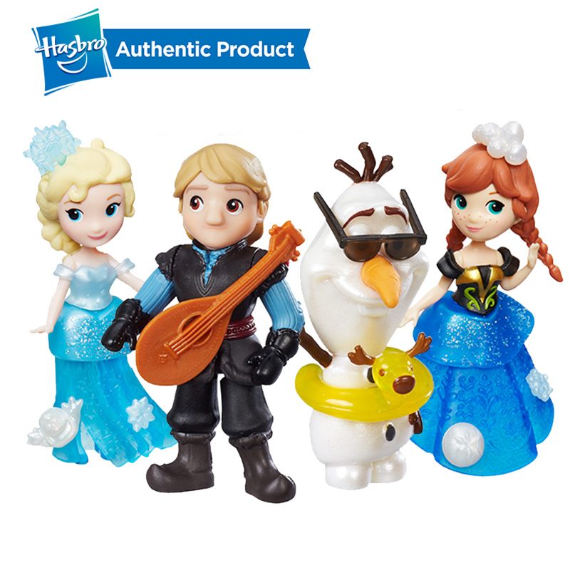 Hasbro Disney Frozen Little Kingdom Elsa Anna Shimmers Kristoff Lute Olaf Beauty Rotate Toy Dolls Christmas Gifts For Girls