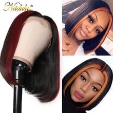Парики из натуральных волос на кружевной основе, 13*4, бразильские волосы remy, парик из натуральных волос, 8-24 дюйма, короткий Боб 99J/TL30, парики с эффектом омбре