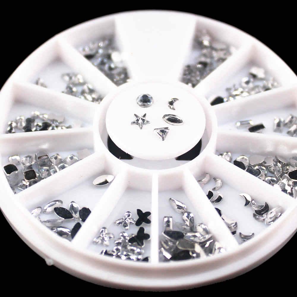 1Pcs Diamond Water Boor Nail Spiegel Glitter Poeder Metallic Kleur Nail Gel Polijsten Chrome Vlokken Pigment Decoraties Manicure