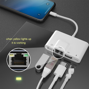 Image 2 - USB OTG Adapter For Lightning to USB Camera RJ45 HDMI compatible Adapter with Charging Port Converter For iPhone/iPad Adapter