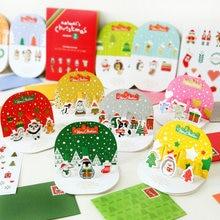 22 шт/компл 3d выдвижные рождественские поздравительные открытки