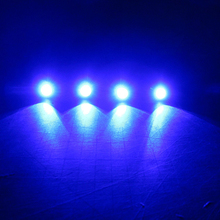 (4) Blue LED Boat Light Silver Waterproof 12v Deck for Enzo Malibu Wakesetter MasterCraft X Underwater JetSki Aquatrax R-12X