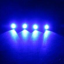 (4) Blue LED Boat Light Silver Waterproof 12v Deck for Enzo