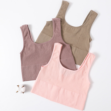 Vintage Crop Top Women Camis Seamless Underwear Sexy Lingerie U Collar Top Knitted Short Tops Sexy Lingerie Tees Camisole