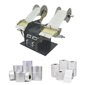 220V Fully Automatic Label Peeling Machine Bar Code Stickers Double Head Separator Bilateral Stripping Laser Scratch Coating 110v 220v fully automatic label peeling machine paper stickers label separator label tearing machine efficient tools equipment