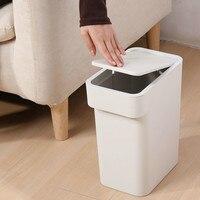 Naciśnij wąską szczelinę kosz na śmieci dla pokoju gościnnego europejskiej kosz na śmieci gospodarstwa domowego kuchnia wc klasyfikowane kosz na śmieci LM7291106 w Kosze na śmieci od Dom i ogród na
