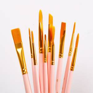 Painting-Brush-Set Watercolor Art-Supplies Nylon-Hair Different-Shape Gouache Round Pointed-Tip