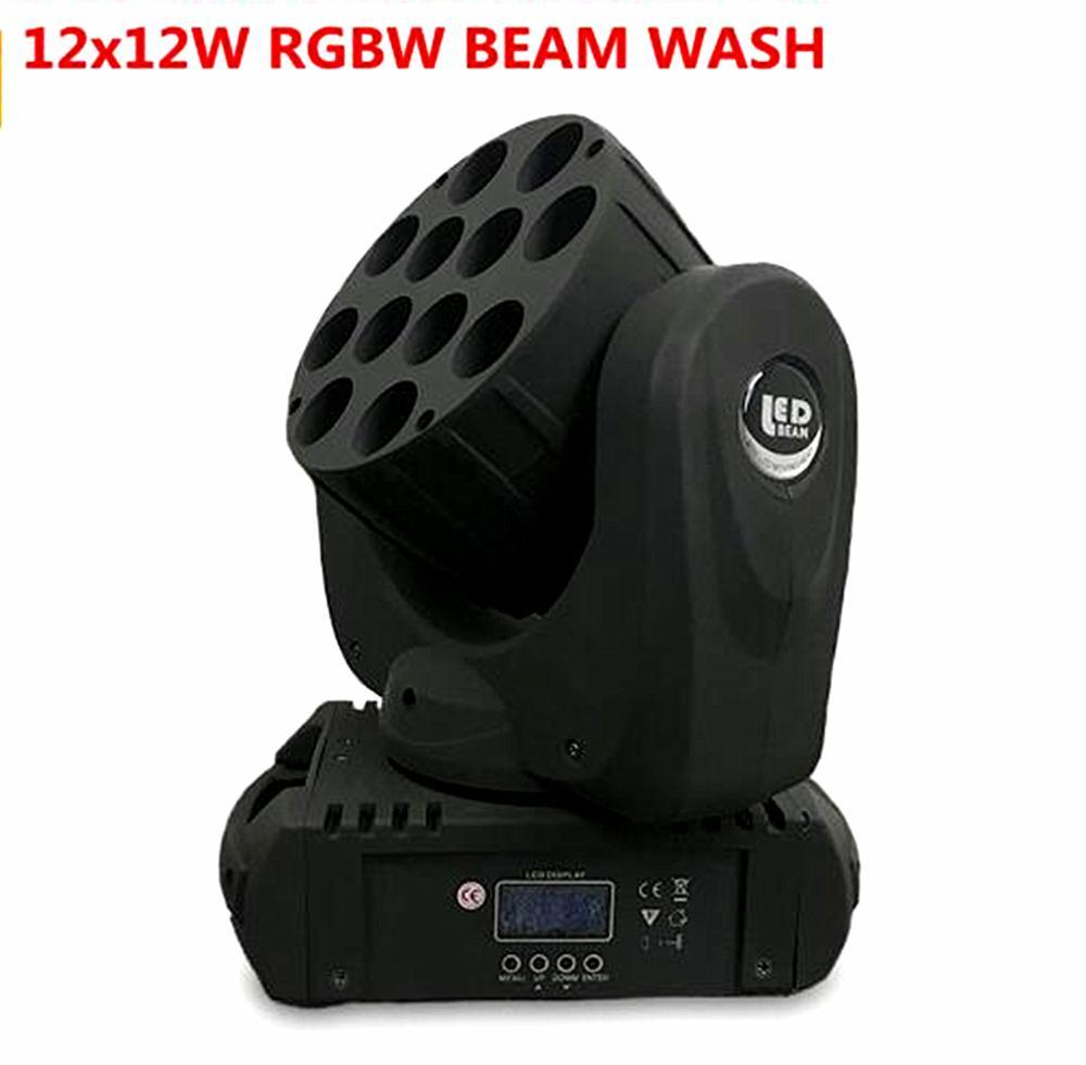 LED 12x12 W lavage LED orientable étape lumière rgbw RGBW 4in1 Quad lampe à LED avancé 9/16 DJ DMX canaux pour scène professionnelle