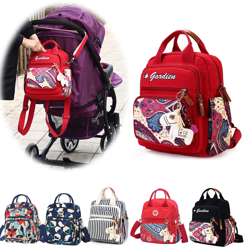 Diaper Bag Backpack For Moms Waterproof Large Capacity Stroller Diaper Organizer Mummy Maternity Bags Nappy Changing Baby Bag
