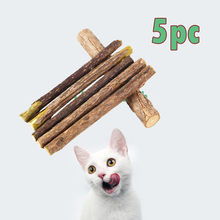 5Pcs pet toy durable Cat Snacks Matatabi Catnip Stick Teeth Molar Cleaning Brush Toy Natural Matatabi Polygonum#4(China)