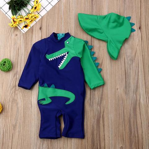 bebe criancas menino verao praia conjuntos de banho dinossauro floral impressao maio traje de natacao