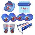 81Pcs Spiderman Thema Einweg Geschirr Design Kid Birthday Party Papier Platte + Tasse + Serviette + Stroh + Tischdecke partei Liefert