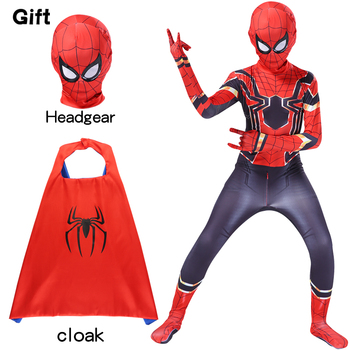 Spider pattern Costume Cosplay Zentai cloak mask Anime Tights Multicolor polyester material 2020 the amazing spider hero cosplay gwen stacy costume spandex zentai mask hoodie spider zentai suit anti gwenom for women girl