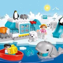 Toy Figures Building-Blocks Whale Animal-Series Arctic Big-Size Brick-Toys Children