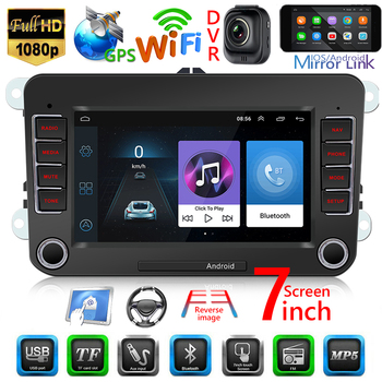 GPS Navigation Bluetooth 4.0 Car Radio Space-saving USB Bluetooth Players Reciever for VW 9070 7 inch Android 8.1