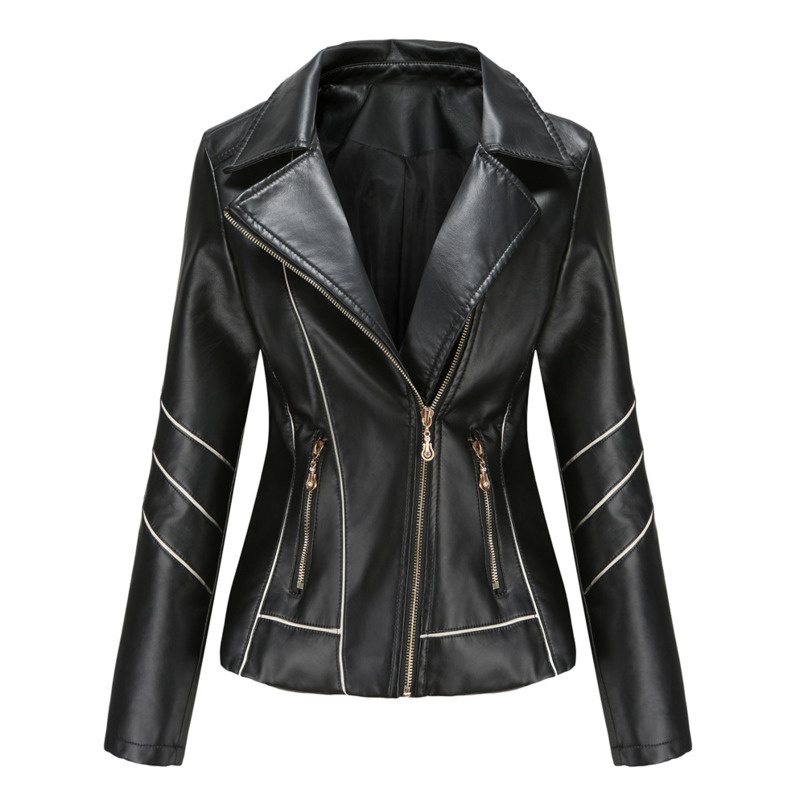 2021 Spring Autumn Women Faux Leather Jackets  Pu Short Coat JACKET MOTORCYCLE Clothes Suede Ladies Coats Gothic