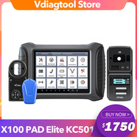 2020 XTOOL X100 PAD3 With KC501 OBD2 Key Programmer Chips Programmer For Benz Infrared Key Reading ECU Read / Write Car Scanner